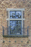 Tudor Style Windows with Balcony Royalty Free Stock Images