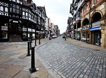 Tudor and Victorian style houses in Chester Royalty Free Stock Photo
