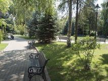 Tudor Vladimirescu Park dans Drobeta-Turnu Severin, Roumanie images stock