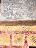 Tudor wall painting of Balaam Stock Photography