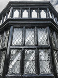 Tudor Window royaltyfria bilder
