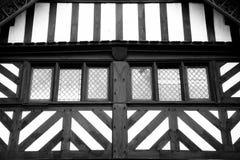 Tudor Windows abstracto Fotografía de archivo libre de regalías