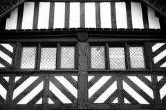 Tudor Windows abstrait Photographie stock libre de droits