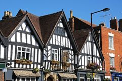 Tudorgebouwen, Evesham royalty-vrije stock foto's