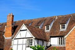 Tudorgebouwen, Tewkesbury stock fotografie