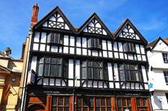 Tudorgebouwen, Tewkesbury royalty-vrije stock afbeeldingen