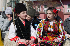 Tudorita. Image taken at the Tudorita festival in Targoviste, Romania. Tudorita or Pastele Cailor festival took place March 3 Stock Photography