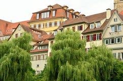 Tuebingen,德国老镇的看法  免版税库存照片