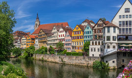 Tuebingen на Реке Neckar Стоковое Фото