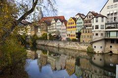 Tuebingen chez le Neckar Image libre de droits