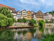 Tuebingen na Neckar rzece Zdjęcie Royalty Free