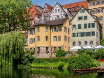 Tuebingen na Neckar rzece Obrazy Royalty Free