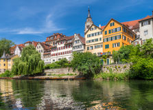 Tuebingen na Neckar rzece Zdjęcia Stock