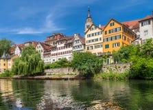 Tuebingen Neckar στον ποταμό Στοκ Φωτογραφίες