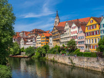 Tuebingen på Neckar River Royaltyfri Foto