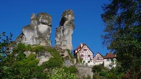 Tuechersfeld. Village Tuechersfeld in Bavaria, Germany stock footage