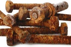 Tuerca y tornillo oxidados Imagen de archivo libre de regalías
