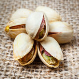 Tuercas de pistacho Fotos de archivo libres de regalías
