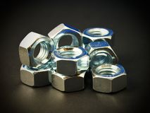 Tuercas del metal Fotos de archivo libres de regalías