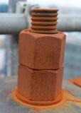 Tuercas oxidadas Foto de archivo libre de regalías