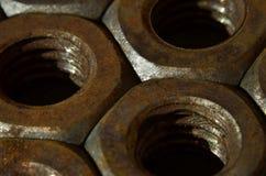 Tuercas oxidadas Imagen de archivo