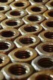 Tuercas oxidadas Fotografía de archivo
