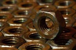 Tuercas oxidadas Imagenes de archivo