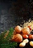 Tuercas tradicionales de la Navidad Imagenes de archivo