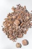 Tuercas y almendras Foto de archivo libre de regalías