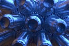 Tuercas - y - tornillos Imagen de archivo libre de regalías