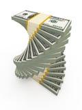 Tuerce en espiral la pila de los USD Foto de archivo libre de regalías