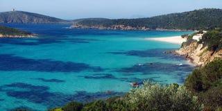 Tuerredda Beach. The scenic Tuerredda Beach near Capo Malfatano (South Sardinia - Italy Royalty Free Stock Photos