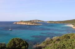 Tuerredda beach in Sardinia. Italy sea blue sky travel landscape sand coast paradise mediterranean beautiful nature summer water vacation europe island royalty free stock photo
