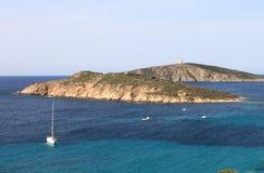 Tuerredda beach in Sardinia. Italy sea blue sky travel landscape sand coast paradise mediterranean beautiful nature summer water vacation europe island stock photo
