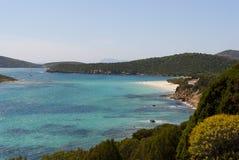 Tuerredda - linea costiera del sud della Sardegna Fotografia Stock Libera da Diritti