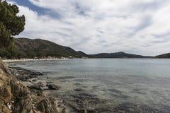 tuerredda na plaży obrazy royalty free