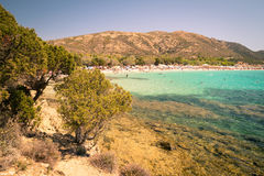 Tuerredda, one of the most beautiful beaches in Sardinia. Stock Photos
