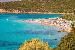 Tuerredda, one of the most beautiful beaches in Sardinia. Stock Photography