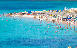 Tuerredda, one of the most beautiful beaches in Sardinia. Royalty Free Stock Photography