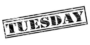 Tuesday black stamp Stock Photography