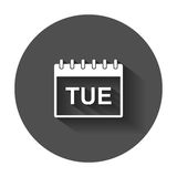 Tuesday calendar page pictogram icon. Stock Images
