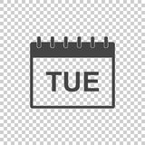 Tuesday calendar page pictogram icon. Simple flat pictogram for Stock Image