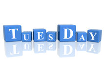 Tuesday In 3d Cubes Stock Image