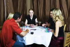 Tuesday night poker Stock Photo