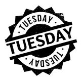 Tuesday rubber stamp Stock Photo