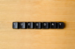 Tuesday word Stock Image