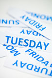 Tuesday word texture background Stock Photography