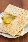 Tuesta integral con aceite de oliva Imagen de archivo libre de regalías