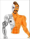 TUEUR DE ROBOT DE CYBORG illustration de vecteur