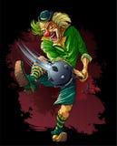 Tueur fou de clown avec la trique Photographie stock libre de droits